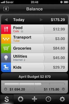 Saver ~ Control your Expenses alex Solonsky 제작 가계부 디자인 잘되있음 5이상의 화면이 아직 지원안됨