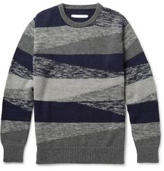 Outerknown - Costa Crew Organic Cotton and Baby Alpaca-Blend Jacquard Sweater   MR PORTER