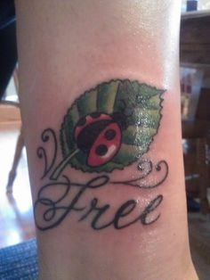 ladybug tattoo :) This looks amazing