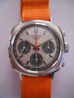 Heuer CAMARO 3-register chronograph V72