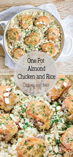 ... Almond Chicken and Rice is cheesy, flavorful, and loaded with almond