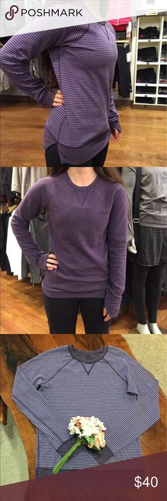 💜LULULEMON OPEN YOUR HEART II💜 In GOOD CONDITION! We made this super cozy, breathable crew reversible so you can wear it everyday. Lightweight and breathable, it's perfect for warm-ups, cool-downs and everything in between. doubleknit Cotton Modal is naturally soft and breathable layer it up for lightweight warmth thumbholes help keep sleeves down and chills out designed not to shrink so laundry day is a good day imported fit + function designed for: to-and-from fabric(s): Cotton Modal…