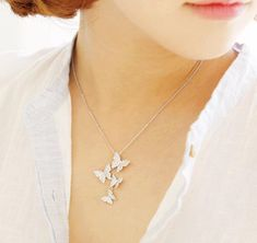 Butterflies Pendant Necklace