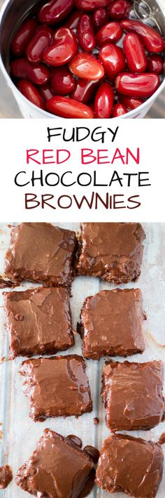 Fudgy Red Bean Chocolate Brownies recipe made with kidney beans! This sneaky way to add vegetables into brownies is genius! These brownies are delicious, noone will guess they're made with beans!