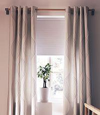 vorhang wohnen garten schlaufenschal mit rollo kombinieren - Wohnzimmer Vorhang Ikea