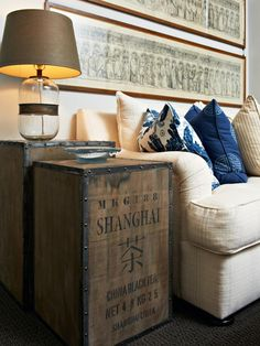 Vintage-style Trunks For Living Room Side Tables