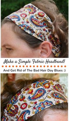 Cute and easy headband tutorial. DIY cloth headband by Gingercake. Easy and quick! Looks cute too.