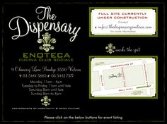 The Dispensary Enoteca  9 Chancery Lane - Bendigo  03 5444 5885  Delicious food and a great atmosphere...drinks aren't bad either