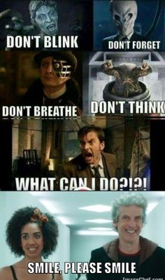 Just smile. Then run. Doctor Who Funny, Doctor Who 12, 12th Doctor, Smile, Tardis, Doctors, Memes, Missing Piece, 100 Free