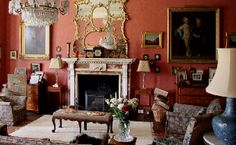 West drawing room ~ Breamore House built in the 1500's - this room decorated in regency style