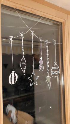 Déco de fenêtre pour Noël
