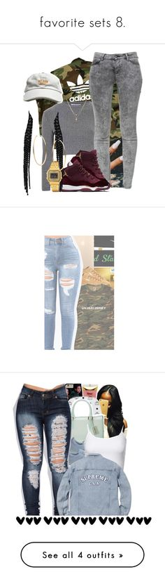 favorite sets 8. by trillestqueen ❤ liked on Polyvore featuring adidas, Glamorous, Zara, Betsey Johnson, Casio, Michael Kors, NIKE, Puma, Barry M and MCM