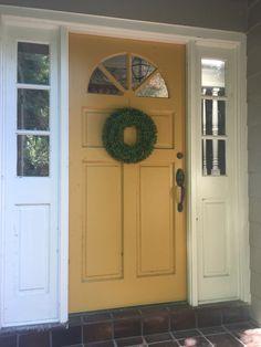 Mustard Yellow Front Door Quot Golden Leaf Quot By Behr Home