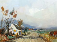 Wessel Marais (SA 1935 - 2009) Oil, Country Store South African Art, 5th Avenue, Afrikaans, Oil, Country, Store, Painting, Rural Area, Larger