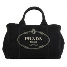 Prada Tasche – Canapa Shopping Bag Nero – in schwarz – Umhängetasche für Damen