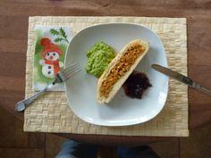 Mikulás tészta marharaguval, mentás borsópürével és lila hagyma lekvárral