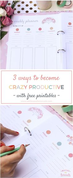 3 Ways to Be Crazy Productive + Free Printables