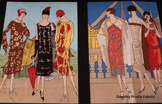 FABRIC GLAMOUR GIRLS Blocks Women of the by DorothyPrudieFabrics
