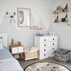 Love this gorgeous little boy's room! OYOY The World rug available at www.istome.co.uk