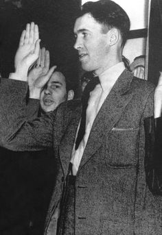 Jimmy Stewart being sworn into the Army. March 22, 1941.