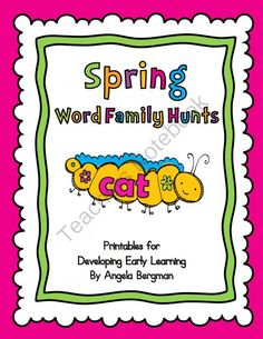 Spring Word Family Hunts - Giveaway - Spring Word Family Hunt Giveaway – Enter to win April 23 - 25, 2014...The hunts are a fun way to help students learn their word family words. .  A GIVEAWAY promotion for Spring Word Family Hunts from Preschool Discoveries on TeachersNotebook.com (ends on 4-25-2014)