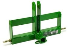 Compact Tractor Attachments | Category 1 Receiver Hitch and Suitcase Weights Bracket for 3 Point Hitch $492 including shipping and combo cart