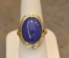 Lapis  Gold Ring by SMBJewelry on Etsy https://www.etsy.com/listing/233948163/lapis-gold-ring