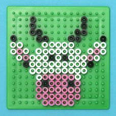Design farm animals with Melty Beads using specially design pegboards and the heat of an iron! Create a cow, duck, chick, chicken, sheep or pig design!