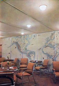 Passenger-Lounge of the Hindenburg, c1936.
