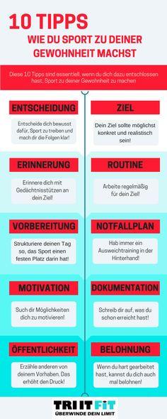 Du willst mehr Sport treiben und weißt aber nicht, wie du ihn zu deiner Gewohnheit machen kannst? Dann haben wir 10 Tipps für dich..