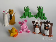Fimo Tiere by _ Marianne_, via Flickr
