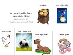 Free! Miss Thrifty SLP: Articulation Hedbandz: K & G Edition-Pinned by SOS Inc. Resources @SOS Inc. Resources http://pinterest.com/sostherapy.