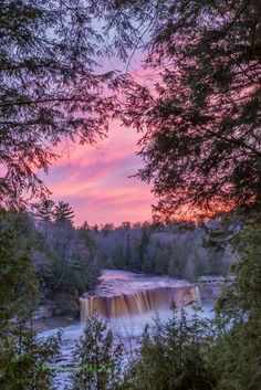 Beautiful shot of Tahquamenon Falls...UP. MI ...I do not take any credit for this photo