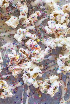 Birthday Popcorn with White Chocolate & Sprinkles Recipe | The Kitchn