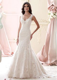Beautiful 59 Stunning and Gorgeous V-neck Wedding Dresses