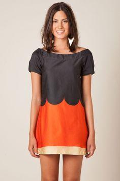vestido curto tricolor ref 229830