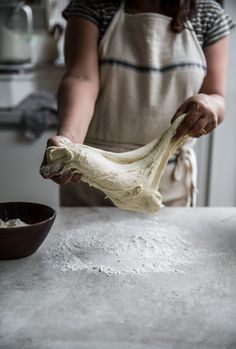Stretching Dough - Photo, Sneh Roy