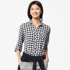 WOMEN Light Flannel Long Sleeve Shirt