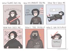 I have a bad feeling about this.  — randomsplashes:   how people see kylo ren