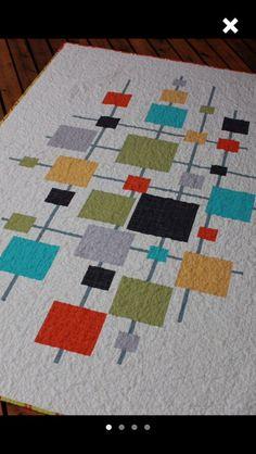 Trendy Ideas For Modern Quilting Tutorials Patchwork Quilting Tutorials, Quilting Projects, Quilting Designs, Quilt Design, Quilt Inspiration, Geometric Quilt, Modern Quilt Patterns, Loom Patterns, Art Textile