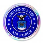 Air Force Holographic Circle Decal [D-SH-HAFC] - $0.84 : Magnet America Store, High Quality Car Magnets, Decals, Patriotic Products, Awareness Products, Promotional Products and more, Made in the USA