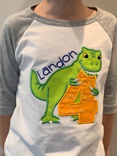 Excited to share the latest addition to my #etsy shop: Dinosaur Party Shirt | Dinosaur Birthday Shirt | Dino Birthday Shirt | Dinosaur Fourth Birthday #dinosaurbirthday #dinobirthdayparty #dinopartyshirt #dinosaurbdayshirt #dinosaurfourthbday