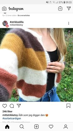 Sorbet, Mille, Sweater Weather, Pullover, Sweaters, Fashion, Stripes, Tejidos, Women