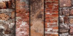 Old brick wall textures