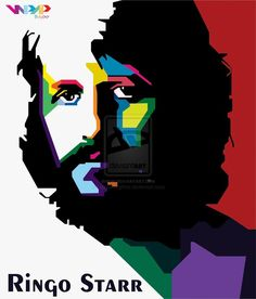 Ringo Starr in WPAP by BayuAndykha on deviantART