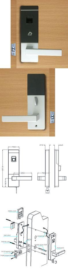 Biometric Door Lock Fingerprint, 4 Cards, 2 Keys Electronic Intelligent Lock Keyless Smart Entry lk10FBS