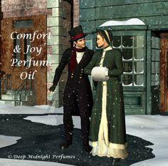 COMFORT AND JOY Perfume Oil - Vanilla bean, roasted chestnuts, cinnamon, nutmeg, anise, cedarwood, frankincense, myrrh - Christmas Perfume