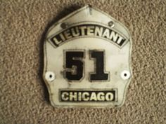 LEATHER FIRE HELMET FRONT PIECE CHICAGO LT. | Collectibles, Historical Memorabilia, Firefighting & Rescue | eBay!