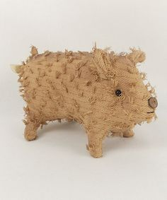 Look what I found on #zulily! Chenille Pig Figurine #zulilyfinds. He needs a home. He is so cute.