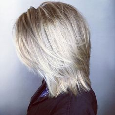 """Mid-Length Blonde Layered Hairstyle Most Universal Modern Shag Haircut Solutions"""", """"Platinum Balayage Shag For a more polished look to your short, s Medium Shaggy Hairstyles, Shaggy Haircuts, Hairstyles Haircuts, Straight Hairstyles, Mid Length Layered Hairstyles, Blonde Hairstyles, Elegant Hairstyles, Mid Length Haircuts, Braided Hairstyles"""